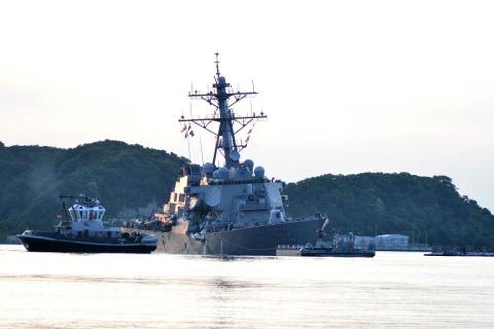 Vì vậy vụ va chạm đáng tiếc đã xảy ra và phần thua thiệt đã thuộc về chiếc  tàu có kích thước khiêm tốn hơn - đó chính là chiến hạm USS Fitzgerald.
