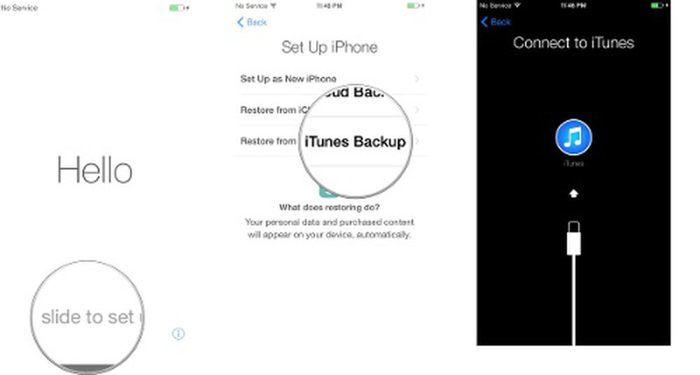 Set up new iphone from itunes backup