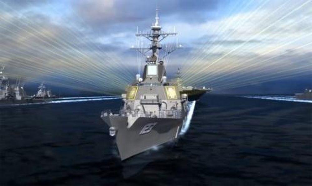 Mô phỏng radar AN/SPY-6(V) hoạt động trên chiến hạm Aegis.