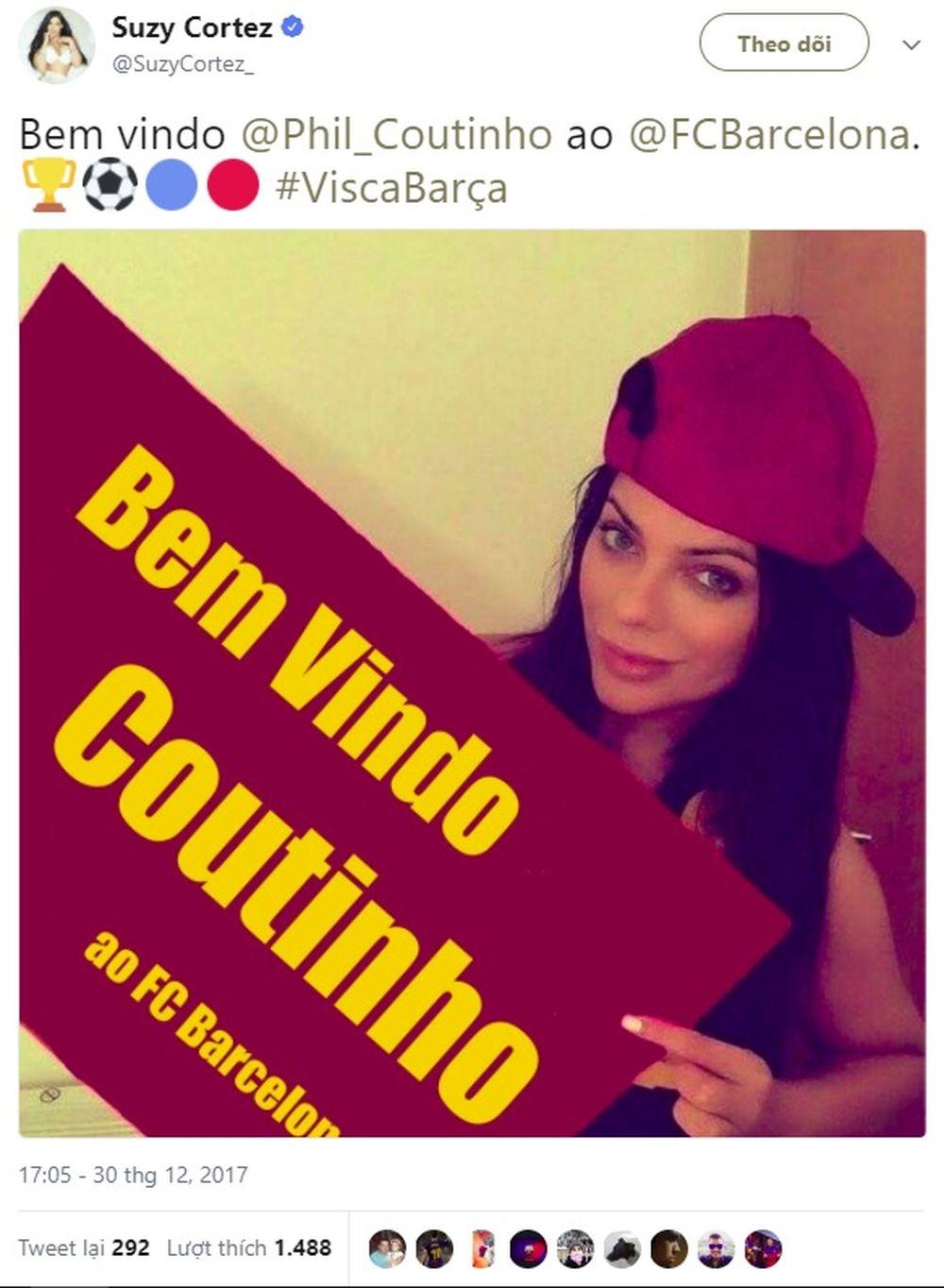 Hoa Hậu Siêu Vòng 3 Khỏa Thân Mời Chào Tân Binh Barcelona đến Brazil