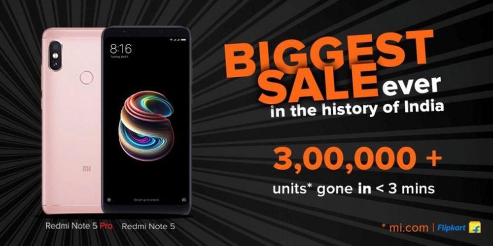 Theo Xiaomi Ấn Độ, hơn 300.000 smartphone Redmi Note 5 Pro đã được bán hết  veo trong chưa đầy 3 phút. Nhiều fan hâm mộ đã giận dữ không có hàng mua ...