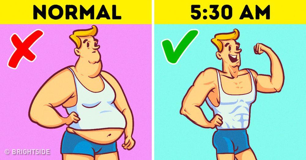 Khi bạn dậy sớm, bạn có thể tập thể dục hiệu quả hơn là tập khi tan là, sau  một ngày não bộ mệt mỏi.