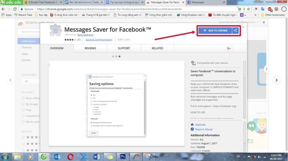Hướng dẫn tìm lại tin nhắn Facebook Messenger từ xa xưa