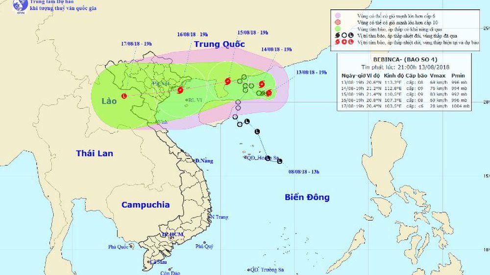 Sức gió mạnh nhất vùng gần tâm bão mạnh cấp 8 (60-75km/giờ), giật cấp 10.  Phạm vi gió mạnh cấp 6, giật cấp 8 khoảng 100km tính từ tâm bão.