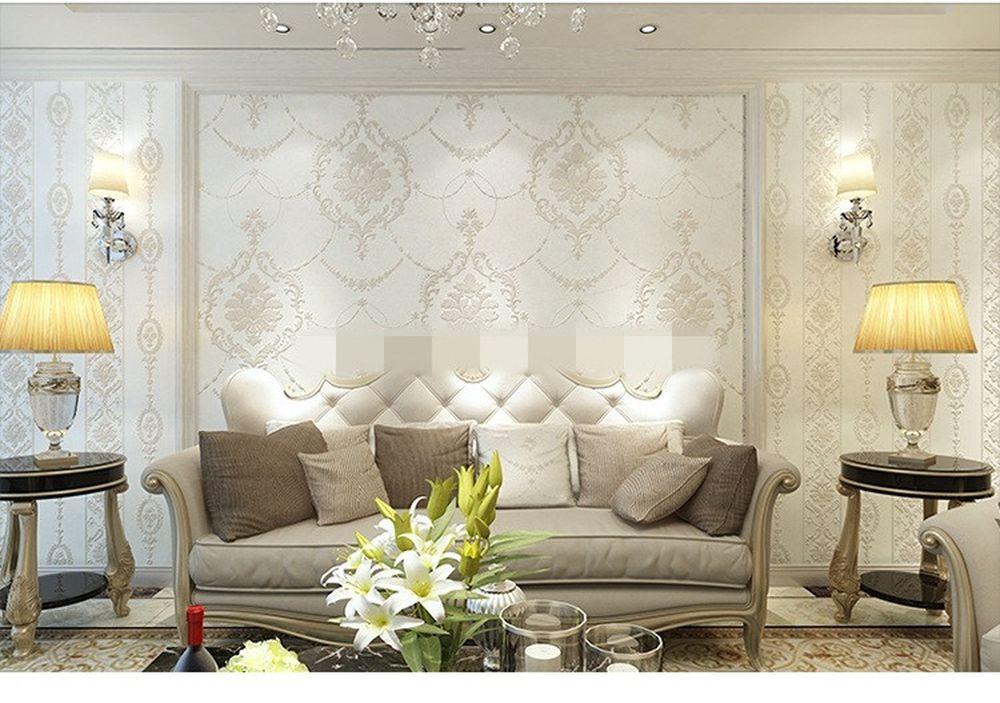 Phòng khách đẹp mê hồn với giấy dán tường 3D | Đất nền Bình Thuận
