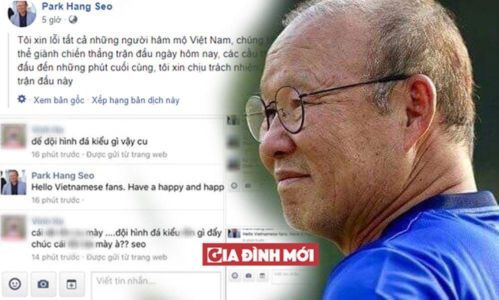 Mới đây, một trang Facebook mang tên của Huấn luyện viên đội tuyển bóng đá  Olympic Việt Nam đã gửi lời xin lỗi tới cổ động viên Việt Nam sau trận thua  ...