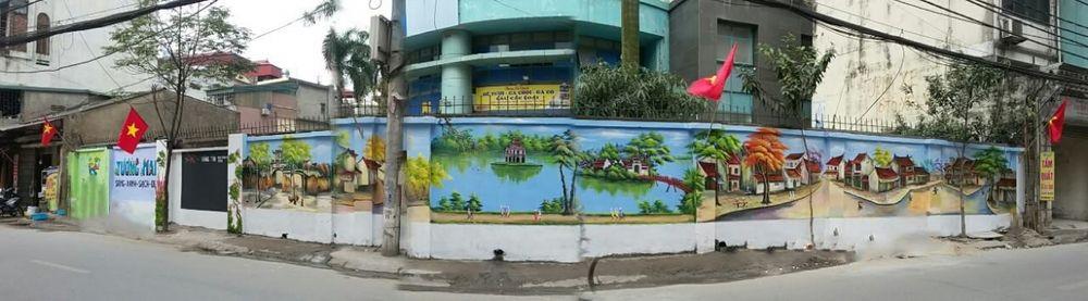 Một Số Hình Ảnh Tranh Tường Bích Họa Của Thanh Niên Quận Hoàng Mai: