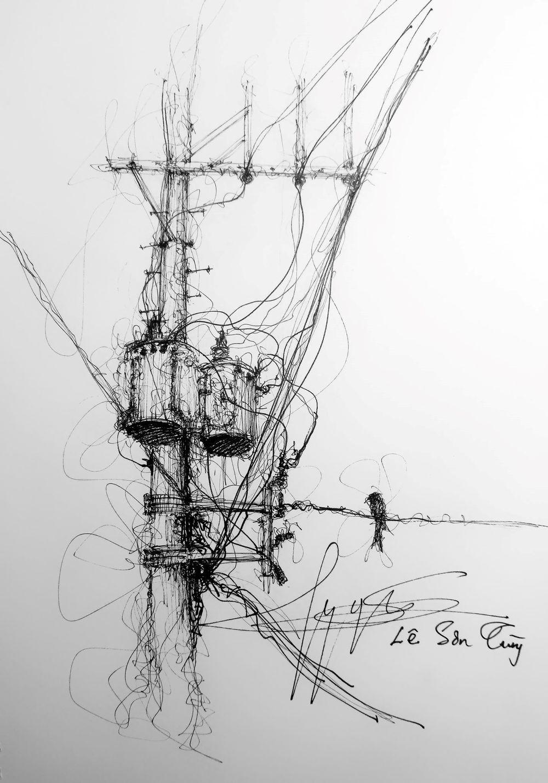 Trong quá trình luyện tập ban đầu, Sơn Tùng tốn khá nhiều giấy và bút chì kim - loại bút vẽ nét rất đẹp nhưng dễ bị hỏng ngòi.