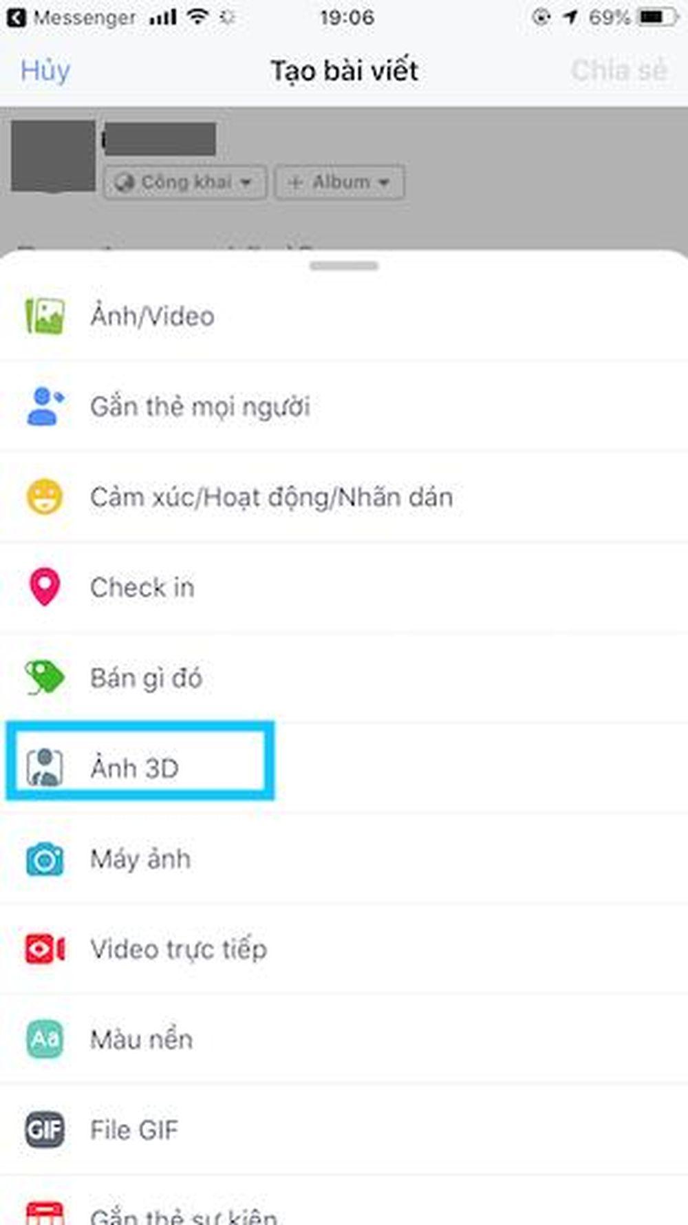 Người dùng có thể đăng ảnh 3D lên Facebook như một bức ảnh bình thường.