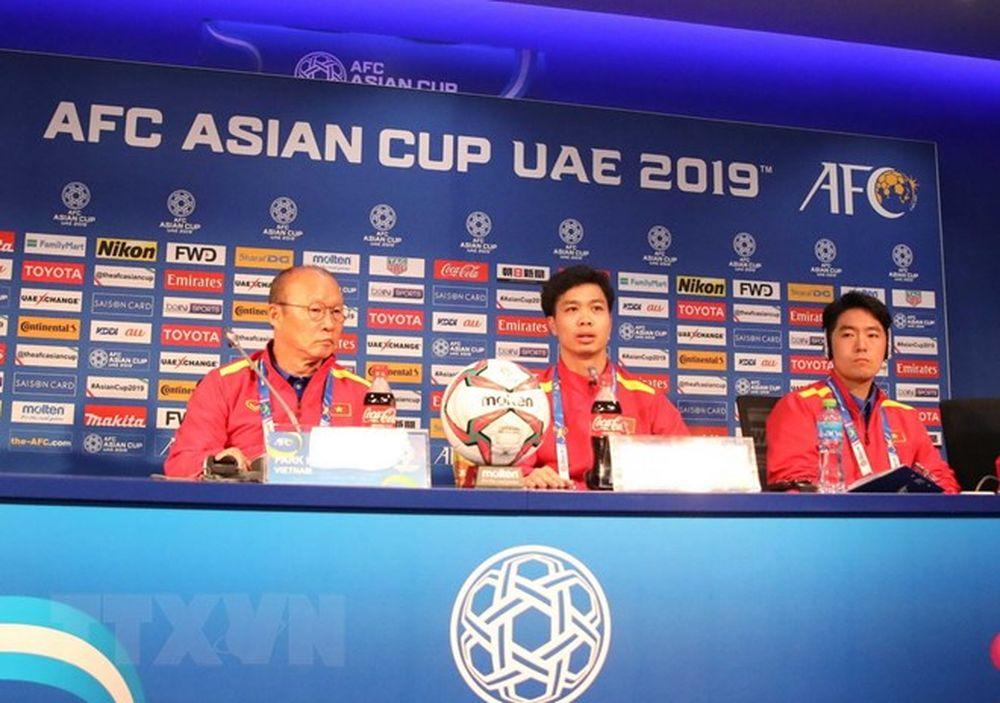 Hình Ảnh Họp Báo Trước Trận Việt Nam-Nhật Bản Ở Tứ Kết Asian Cup 2019