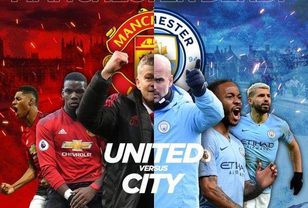 Lịch phát sóng bóng đá hôm nay 7/1: Man Utd vs Man City