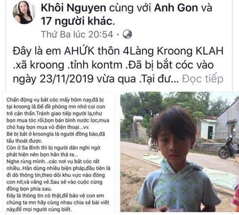 Lên facebook 'bịa chuyện' bắt cóc trẻ em - Báo Nông Nghiệp VN