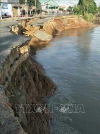 Quốc lộ 91 đoạn qua xã Bình Mỹ, An Giang tiếp tục sạt lở gần 30m