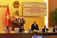 Thủ tướng dự gặp mặt đại biểu Quốc hội là nhà giáo, nguyên là nhà giáo