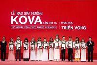 Giải thưởng KOVA 2019 tìm kiếm ứng viên cho 4 hạng mục
