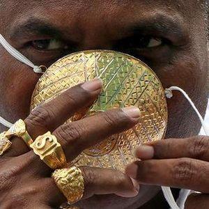 Bỏ 40.000 USD làm khẩu trang bằng vàng ròng chống Covid-19