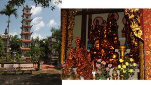 Tượng đất hóa vàng trong ngôi chùa cổ