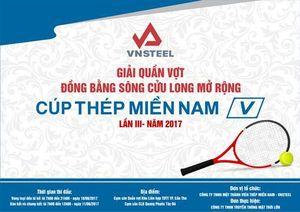Sắp khai mạc 'Giải quần vợt ĐBSCL mở rộng - Cúp Thép Miền Nam V lần 3'
