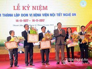 Bệnh viện Nội tiết Nghệ An kỷ niệm 40 năm ngày thành lập