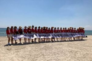 Đà Nẵng quản lý các đoàn khách nước ngoài giăng băng rôn chụp hình tại các bãi biển