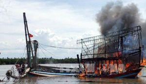 Cháy tàu cá tại Kiên Giang thiệt hại khoảng 13 tỷ đồng