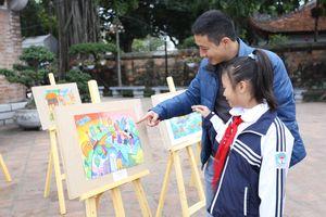 Phát động cuộc thi vẽ tranh 'Sải cánh vươn cao' cho học sinh Hà Nội