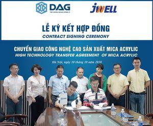 DAG mua dây chuyền sản xuất Mica Acrylic hơn 20 tỷ đồng