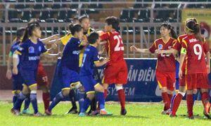 Cầu thủ nữ Việt Nam ẩu đả ở giải quốc gia