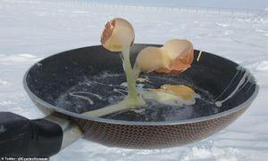 Kinh ngạc cách con người nấu ăn ngoài trời ở Nam Cực
