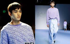 Dù bị mặc quần áo độc lạ, Lucas (NCT) vẫn nổi bần bật trên sàn diễn catwalk chuyên nghiệp