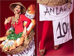H'Hen Niê diện trang phục 'bánh mì 10K' là sáng tạo hay hàng chợ?