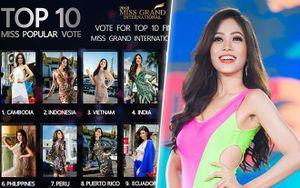 Giải 'vé vớt' Miss Grand International: Phương Nga tăng 5 hạng vẫn ngậm ngùi xếp sau 2 đối thủ 'siêu vote' này