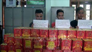 Nghệ An: Bắt giữ 3 đối tượng cùng 180kg pháo hoa