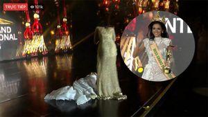 Tân Hoa hậu Hòa bình quốc tế ngất trên sân khấu lúc đăng quang