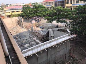 Công trình hội trường tiền tỉ đổ sập khi đang xây dựng
