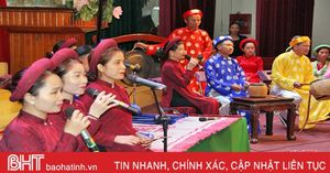 Trước giờ khai mạc Liên hoan Ca trù toàn quốc 2018 tại Hà Tĩnh