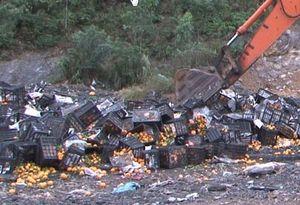 Gần 10 tấn cam không rõ nguồn gốc bị tiêu hủy