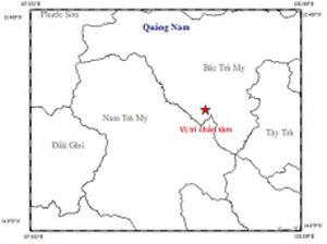 Hai trận động đất liên tiếp xảy ra tại huyện Bắc Trà My