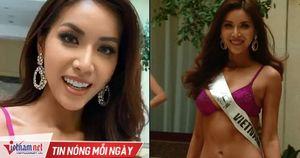 Minh Tú nóng bỏng trong phần thi bikini tại Hoa hậu Siêu quốc gia
