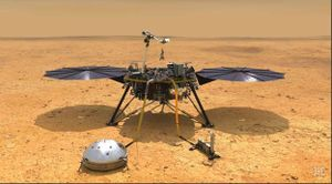 Tàu đổ bộ của NASA hạ cánh xuống bề mặt sao Hỏa