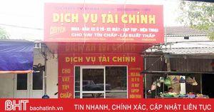 Các cơ sở dịch vụ tài chính ở Hà Tĩnh 'ngủ đông' sau đợt truy quét?