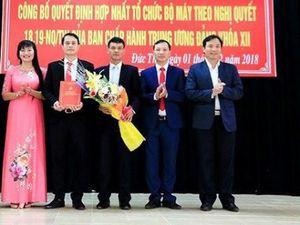 Hà Tĩnh bắt đầu sáp nhập các phòng, ban Đảng và chính quyền