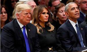Tổng thống Trump 'đơn độc' trong tang lễ Bush cha