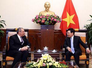 Phó Thủ tướng Phạm Bình Minh tiếp Đại sứ Ai Cập
