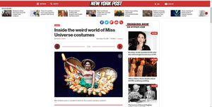 Trang phục 'Bánh Mỳ' H'Hen Niê liên tục xuất hiện trên báo nước ngoài