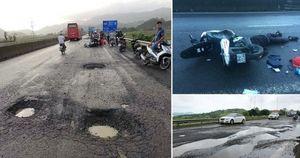 'Sập bẫy' ổ gà trên đường quốc lộ gây tử vong, nhận biết để tránh xa