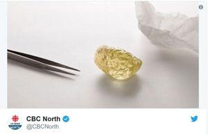 Canada đào được viên kim cương to bằng quả trứng gà