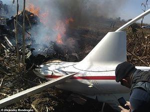 Hiện trường vụ rơi trực thăng khiến nữ Thống đốc Mexico thiệt mạng