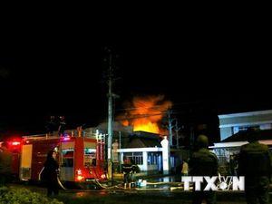 Hiện trường vụ cháy tại khu công nghiệp Trà Nóc