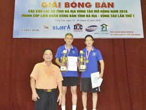 Giải bóng bàn các CLB tỉnh Bà Rịa-Vũng Tàu mở rộng năm 2018: Bà Rịa – Vũng Tàu đoạt giải nhất đồng đội hạng B và đôi lãnh đạo